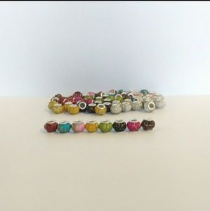 🌺Lot of Spacer Beads For Charm Bracelets 925